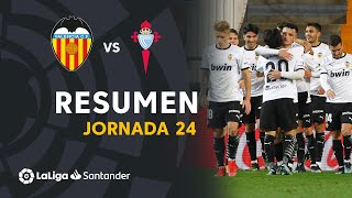 Resumen de Valencia CF vs RC Celta (2-0)