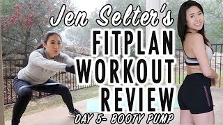 Review of 1 Full Week of Jen Selter Fitplan App Home Workout Series- Day 5