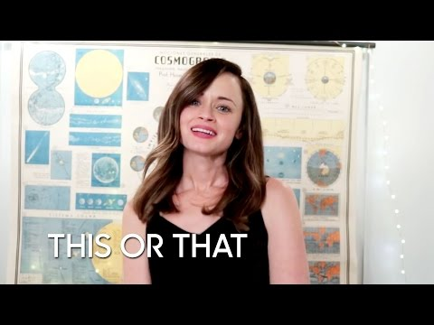 Would You Rather: Gilmore Girls Edition with Alexis Bledel - YouTube