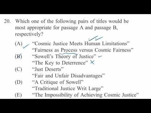 LSAT reading comprehension law passage: Sowell main point