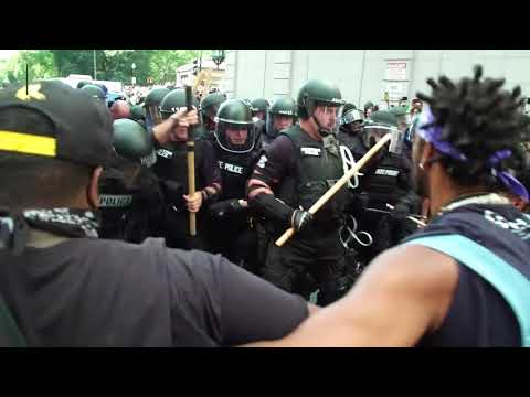 Counterprotesters flood