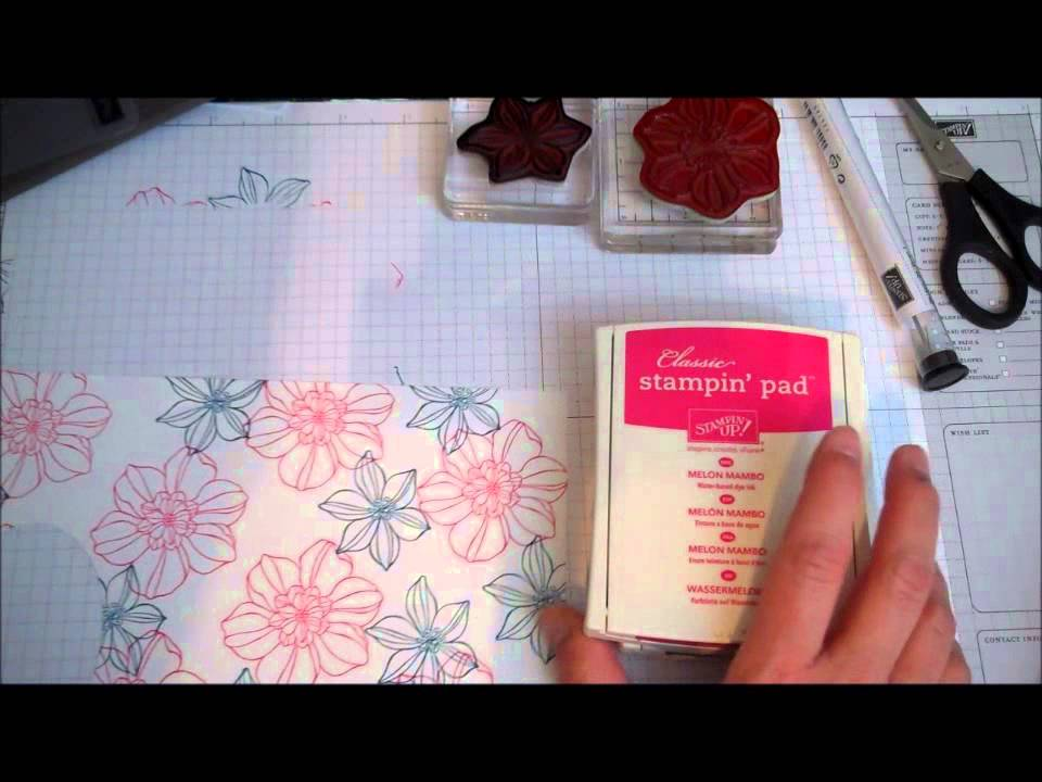 Stampin Up Clean And Simple Card Idea With Secret Garden Youtube