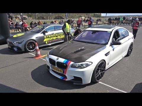 BMW M5 F10 Vs ABT Audi R8 V10 Race Gone Wrong!