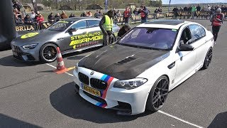 BMW M5 F10 vs ABT Audi R8 V10 Race Gone Wrong!