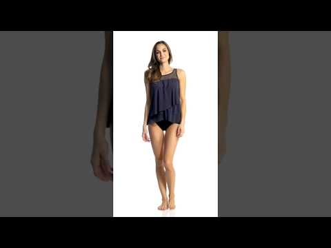 b1f4724b73d Miraclesuit Solid Mirage Tankini Top (DD Cup) | SwimOutlet.com - YouTube