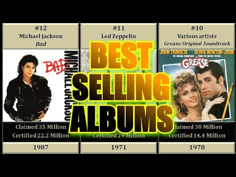 TOP 60 BEST SELLING ALBUMS WORLDWIDE OF ALL TIME (Up To Dec 2019)