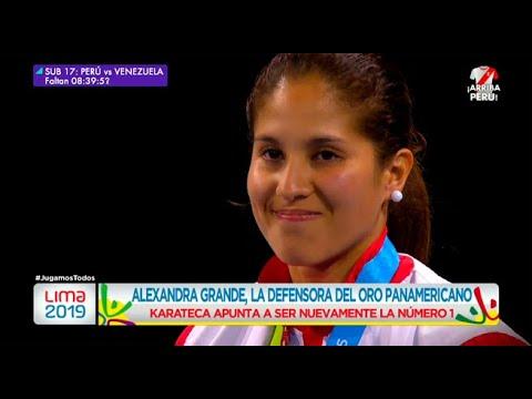 Alexandra Grande, la karateca defensora del oro panamericano - Lima 2019