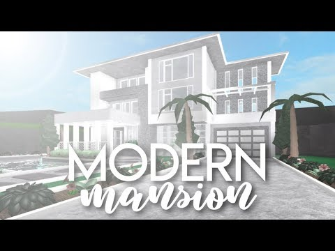 BLOXBURG| Modern Mansion 82k - YouTube