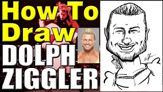 How To Draw A Quick Caricature Dolph Ziggler