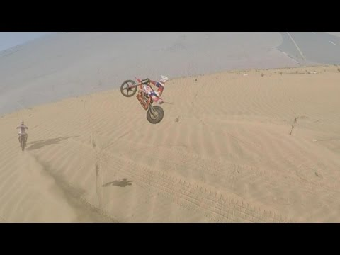 RC Eletric Dirt Bike Dune Bashing and Highest Jumps