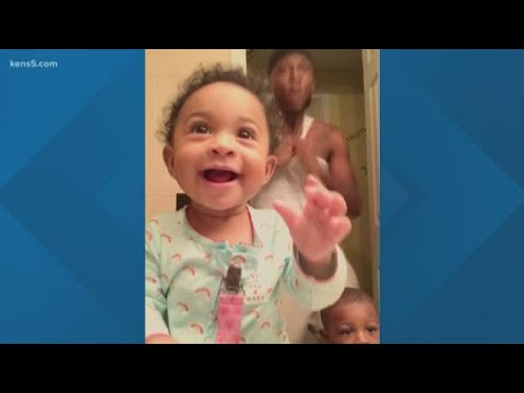 Baby dancing with dad is the cutest video on the internet right now