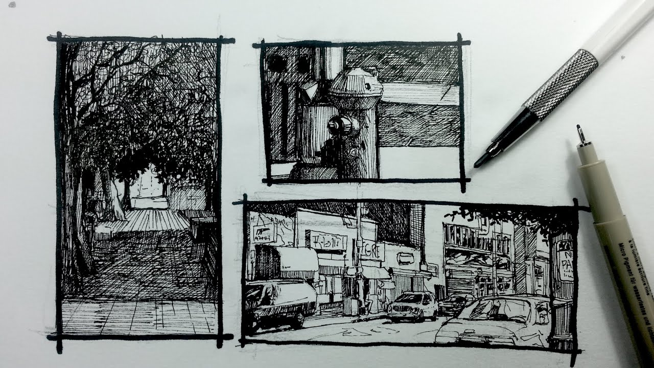 Urban Sketching Series Pt 2 3 Ways To Frame Your Scene