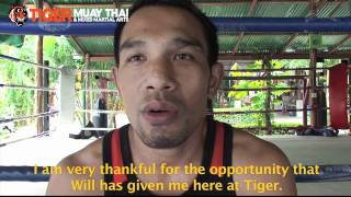 Tiger Muay Thai trainer & fighter Kru Prathet leaves for London