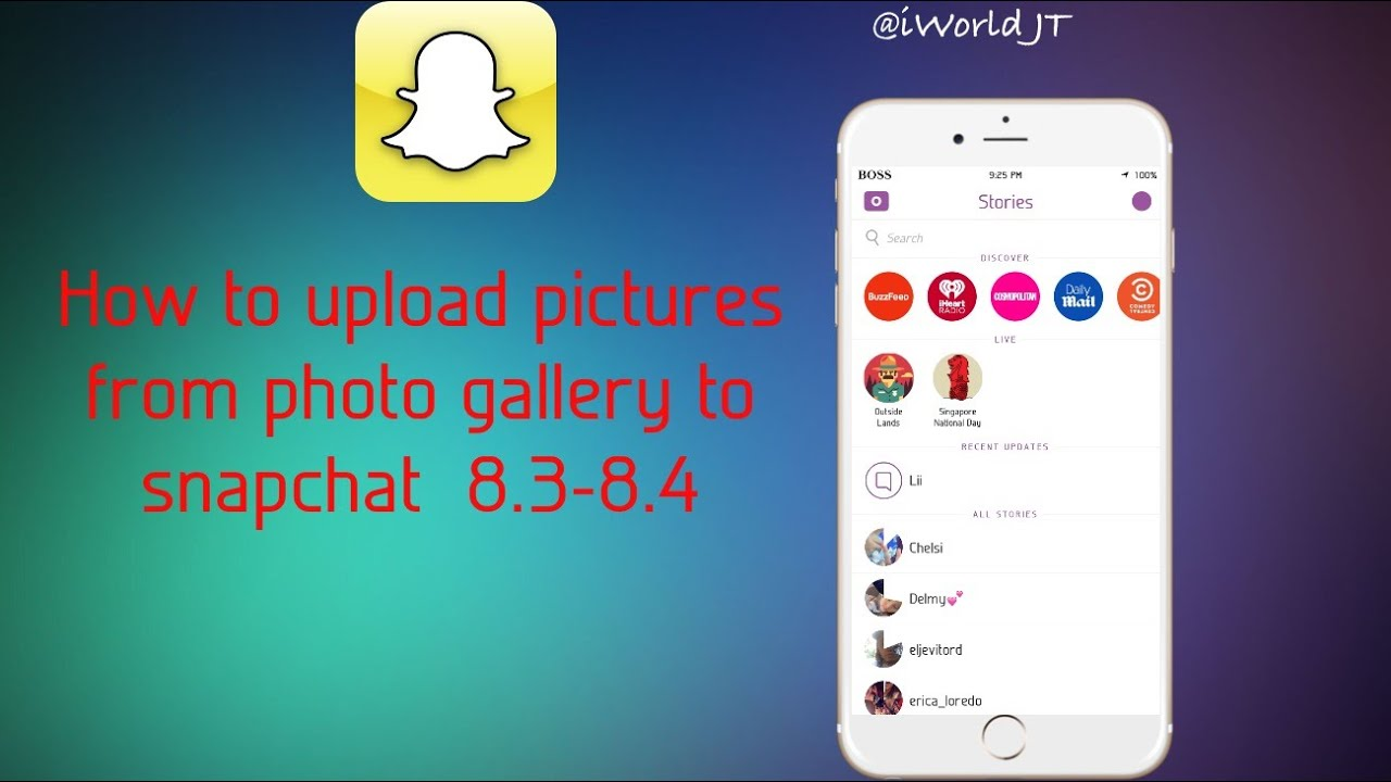 How To Upload Pictures From Photo Gallery To Snapchat (no Jailbreak)