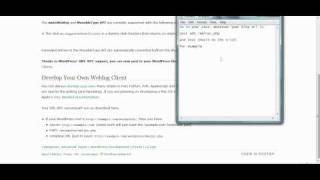 XML RPC and Wordpress - Settings
