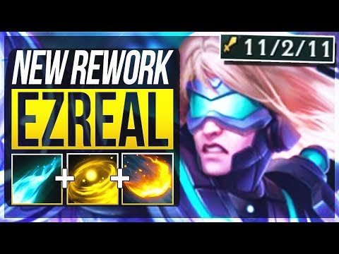 EZREAL REWORK IS ACTUALLY SO BUSTED Ezreal Rework ADC Gameplay  League of Legends