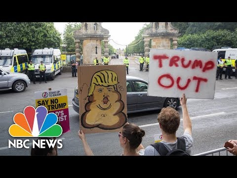 Watch Live: Thousands Gather In Central London To Protest Trump