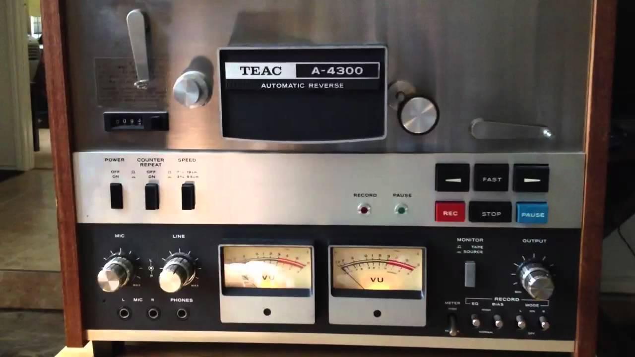 Teac A 4300 Reel To Reel Youtube