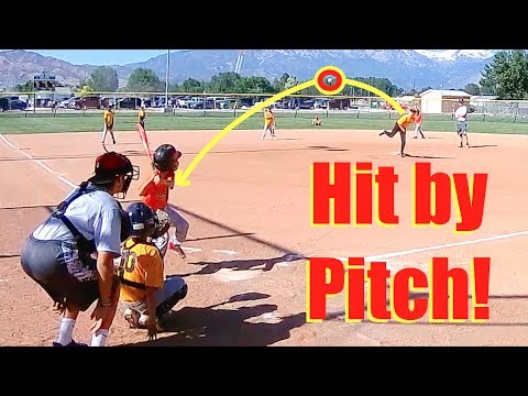 FIRST TIME GETTING HIT BY A PITCH! LITTLE LEAGUE BASEBALL PLAYOFFS