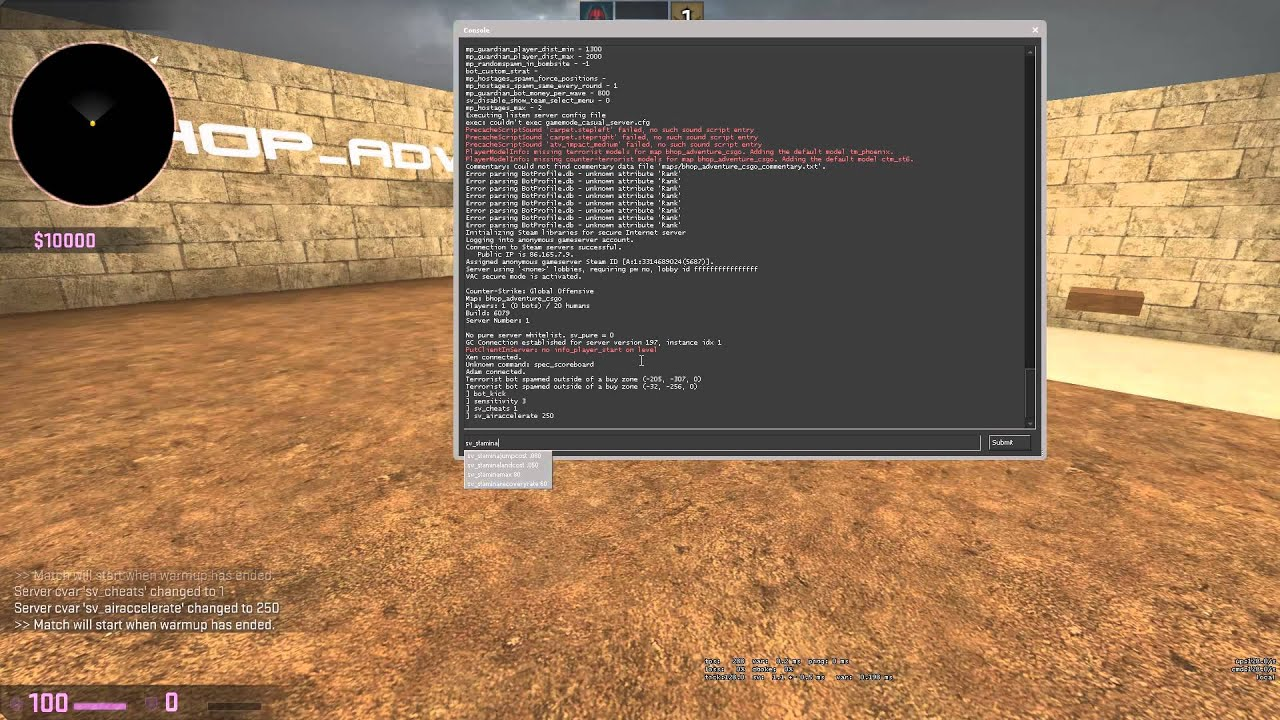 Cs go server commands