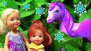 Frozen Barbie Fairy Pegasus Pony Toddler Princess Anna Elsa Castle Play Parody Part 8