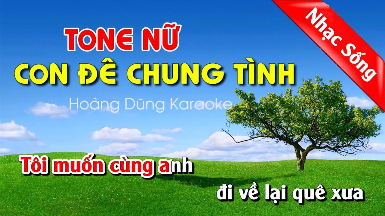 Con Đê Chung Tình Karaoke Nhạc Sống