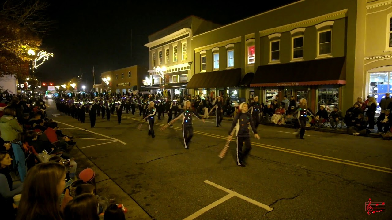 Holly Springs Christmas Parade 2019 Holly Springs HS Marching Band in the 2017 Apex NC Christmas