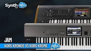 Korg Krome Demo part 1 vs kronos + Motif xf6 performed by S4K ( Space4Keys Keyboard Solo )