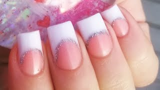 Simple French tip acrylic nail set