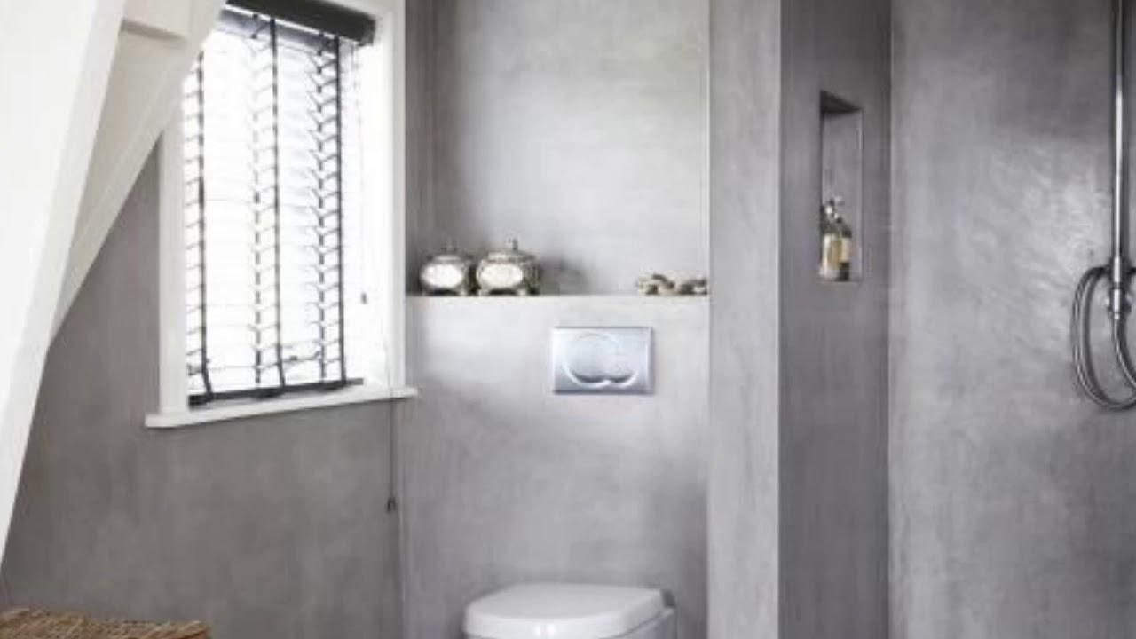 Great Design Ideas For Stylish Ways Use Concrete Bathroom