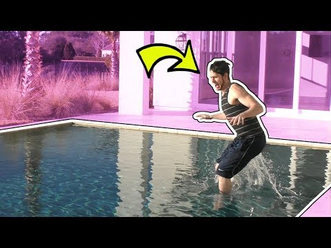 JUMPING INTO FREEZING COLD POOL!!!