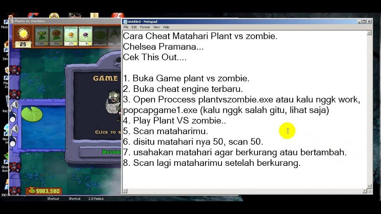 Cara Cheat Matahari Sun Plant Vs Zombie Tak Terbatas Youtube
