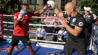 C'MON BABI !!! - KELL BROOK SMASHES THE PADS AHEAD OF ERROL SPENCE CLASH (FOOTAGE) BROOK v SPENCE