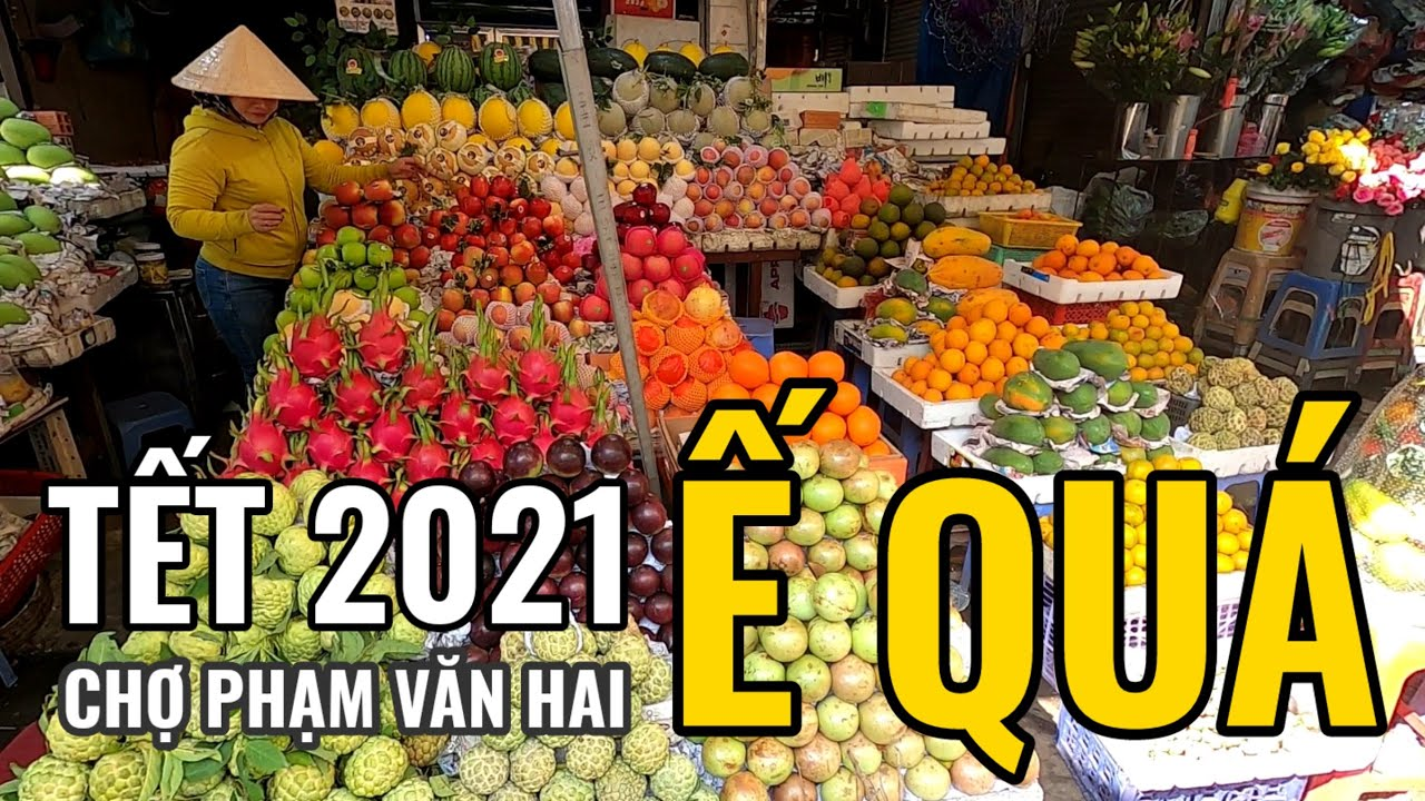 Chợ PHẠM VĂN HAI TẾT 2021 tiểu thương buồn rười rượi vật vờ ngồi ĐỢI mà khách mua vẫn biệt tăm!