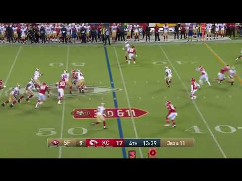 C.J.  Beathard hits Kendrick Bourne for a 46 yard touchdown!