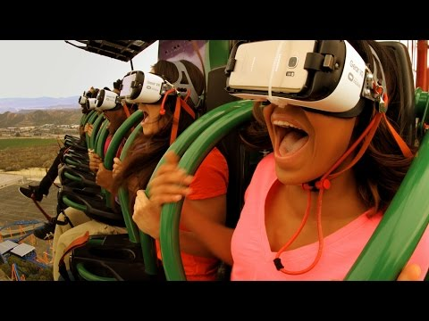 World's Tallest & Fastest Virtual Reality Free Fall Ride Drop of Doom Six Flags Great Adventure POV