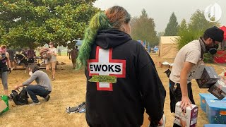 Portland EWOKS, first mobilized for protests, offer aid to fire victims