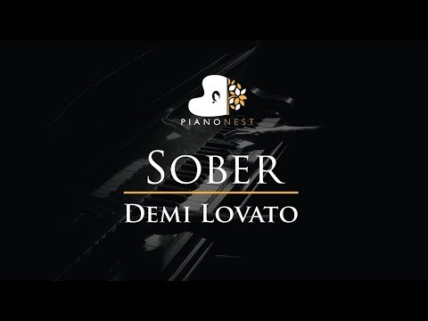 Demi Lovato - Sober - Piano Karaoke / Sing Along / Cover With Lyrics
