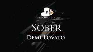 Demi Lovato - Sober - Piano Karaoke / Sing Along / Cover with Lyrics