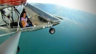 Flying with my daughter from Humacao to Fajardo and back