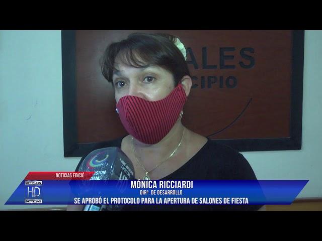 Mónica Ricciardi  Se aprobó el protocolo para la apertura de salones de fiesta