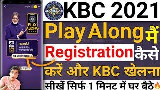 how to play KBC on Sony Liv   KBC Play Along Main Registration kaise Kare 2021   KBC Play Along 2021