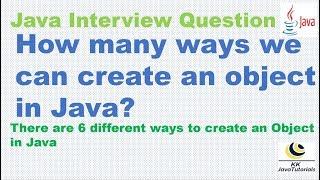 De combien de façons on peut créer un objet en Java ? [Plus Important Java Les Questions De L'Entrevue]