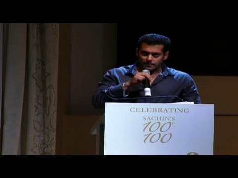 Salman's Brilliant Speech For Sachin Tendulkar