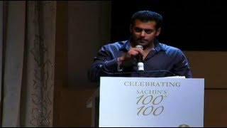 Salmans Brilliant Speech For Sachin Tendulkar