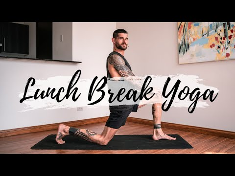 15 Min Yoga for Your Lunch & Office Break   Breathe and Flow Yoga