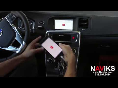 2016 Volvo S60 NAViKS HDMI Video Interface Add: Rearview Camera, Smartphone Mirroring