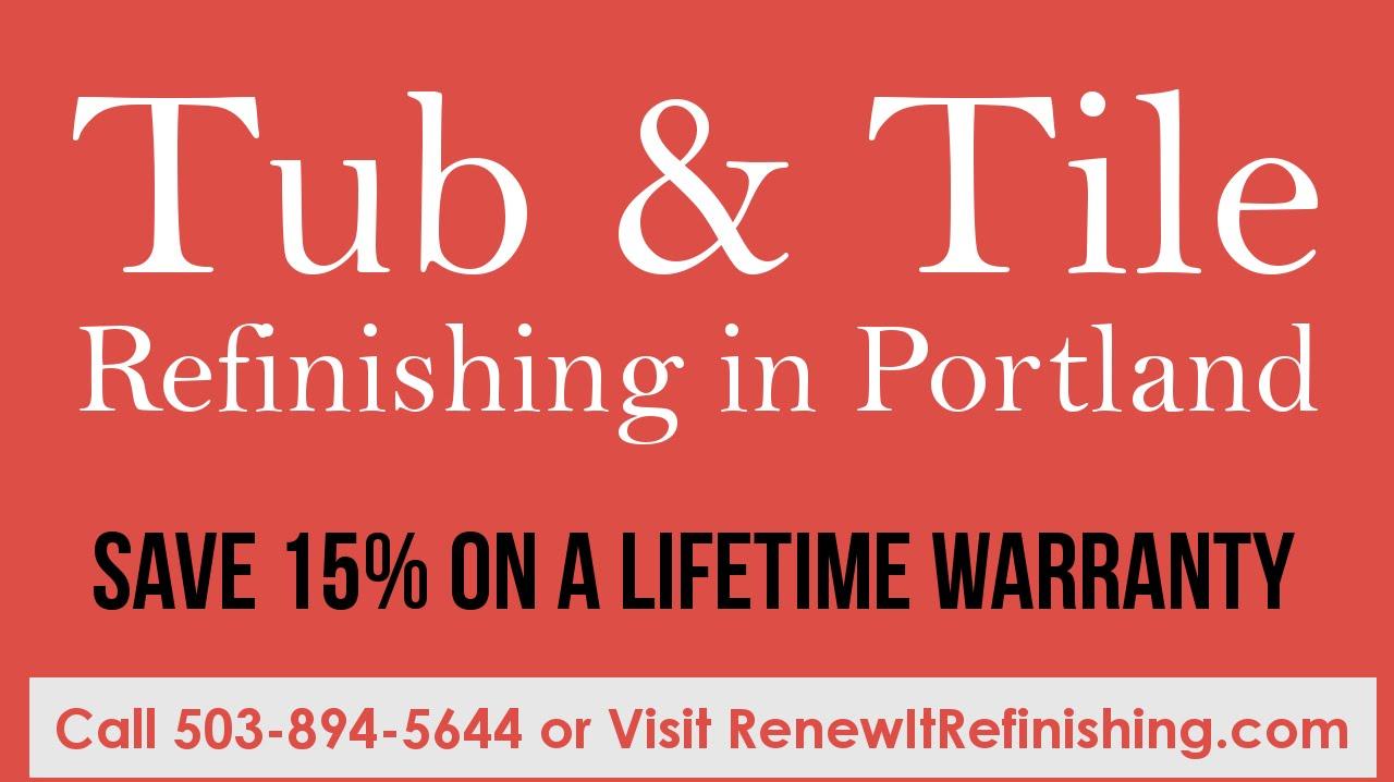 $299 Portland, OR Tub U0026 Tile Refinishing Call 503 894 5644 BEST Choice!    YouTube