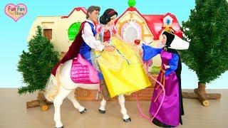 Snow White and the Seven Dwarfs Cottage! Schneewittchen Puppenhaus Putri Salju dan Tujuh Kurcaci