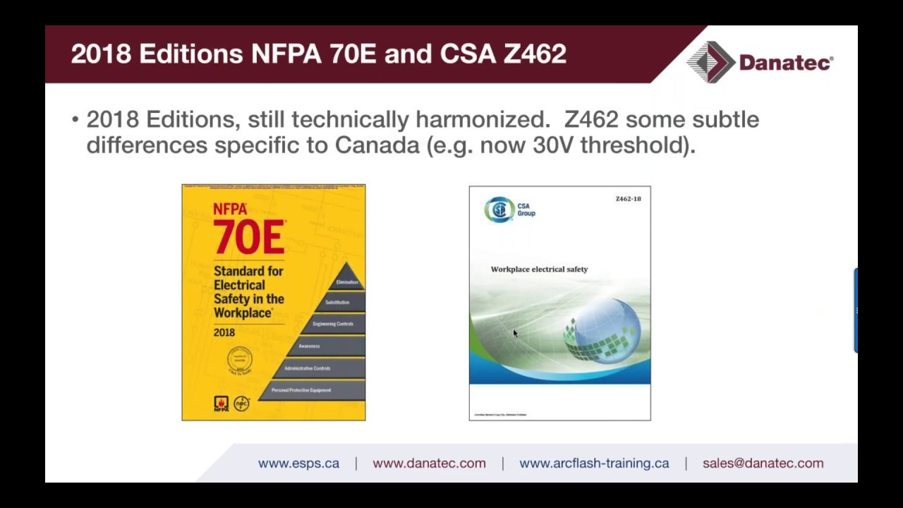 Electrical Safety Program - NFPA 70E & CSA Z462 - 2018 Changes & Updates  Part I